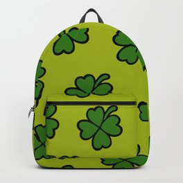 Lucky Four Leaf Clover Pattern Backpack