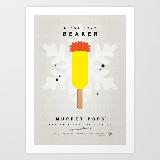 My MUPPET ICE POP - Beaker Art Print