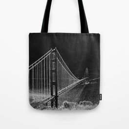 Golden Gate Abstract Tote Bag