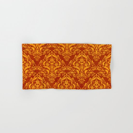 Halloween damask colors #2 Hand & Bath Towel