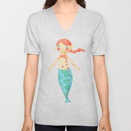 Mermaid doll Unisex V-Neck