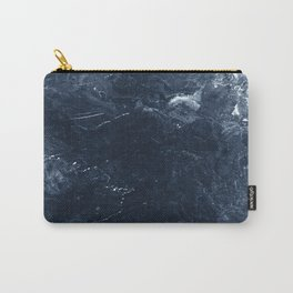 Navy Marble Carry-All Pouch