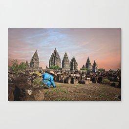 Temple Prambanan Canvas Print