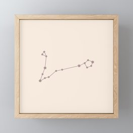 Pisces Zodiac Constellation Neutral Rose Framed Mini Art Print