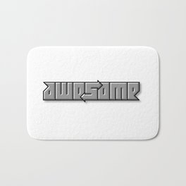 AWESOME ambigram Bath Mat