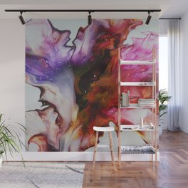 Fluid Acrylic Flower Wall Mural