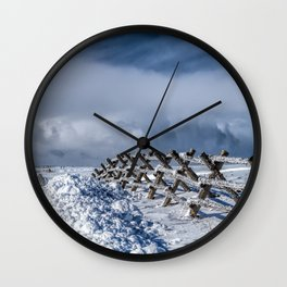 A Road Less Traveled Wall Clock
