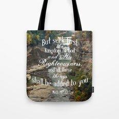 Seek First Tote Bag