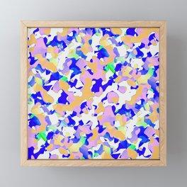 Pattern Camouflage Colors Framed Mini Art Print