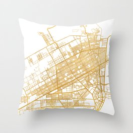 CANCUN MEXICO CITY STREET MAP ART Throw Pillow