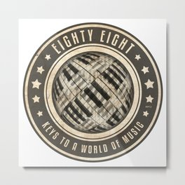 Eighty Eight Keys Metal Print