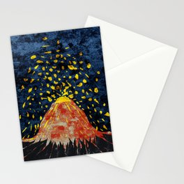 Erupting volcano Stationery Cards