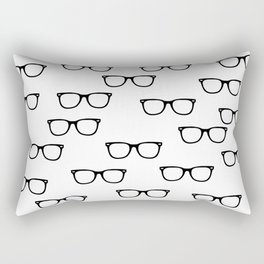 I See // Hipster Glasses Pattern Rectangular Pillow