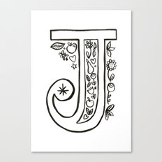 j is for Canvas Print
