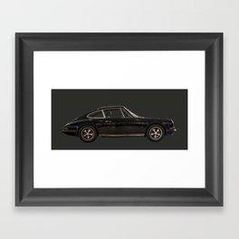 Painted Porsche 901 911 912 black and grey Framed Art Print