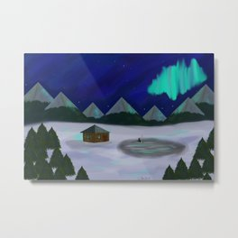 Someplace snowy, like Norway or Whatever Metal Print