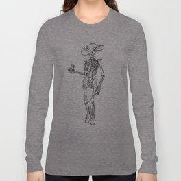 Vino Skelly (No Text) Long Sleeve T-shirt