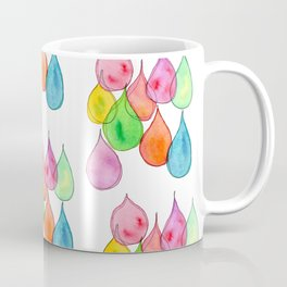 """Crystals"" Watercolor Painting positive illustration colorful nursery kids room rain drops pattern Coffee Mug"