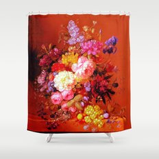 Passion Fruits and Flowers Shower Curtain