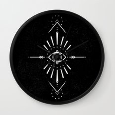 Evil Eye Monochrome Wall Clock