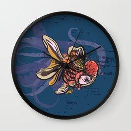 Goldfish Prosperity Wall Clock