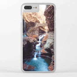 Waterfall at Watkins Glen Clear iPhone Case