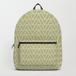 Abstract geometric pastel green white gradient triangles Backpack
