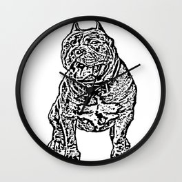 American Bully Wall Clock