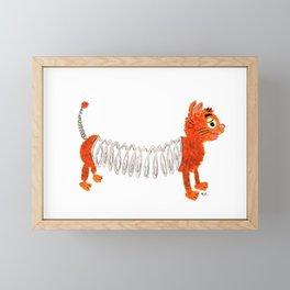 Slinky Cat Framed Mini Art Print