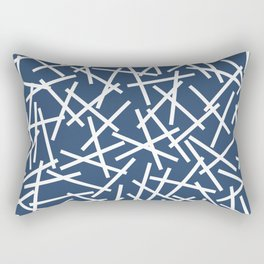 Kerplunk Navy and White Rectangular Pillow