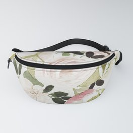 Romantic Loose Rose Bouquet Fanny Pack