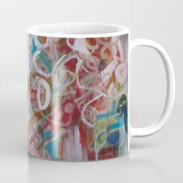 Playing in the Garden - Abstract Modern Contemporary Flowers Coffee Mug