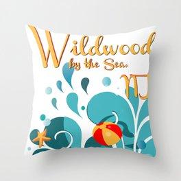 Oh Those Wildwood Daze Throw Pillow