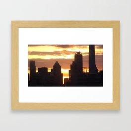 Fire In The Sky! Framed Art Print