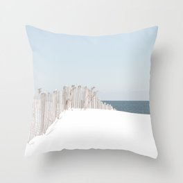 Snowy Beach 2015 Throw Pillow