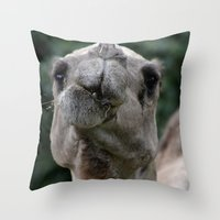camel Throw Pillows featuring Camel by Gredmonds