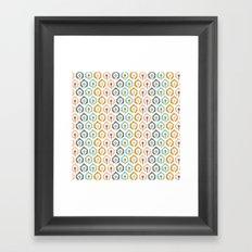 Honeycomb IKAT - Ivory Framed Art Print