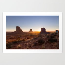 Sunrise at Monument Valley Art Print