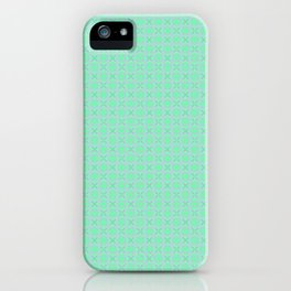 Mint Green Abstract V iPhone Case