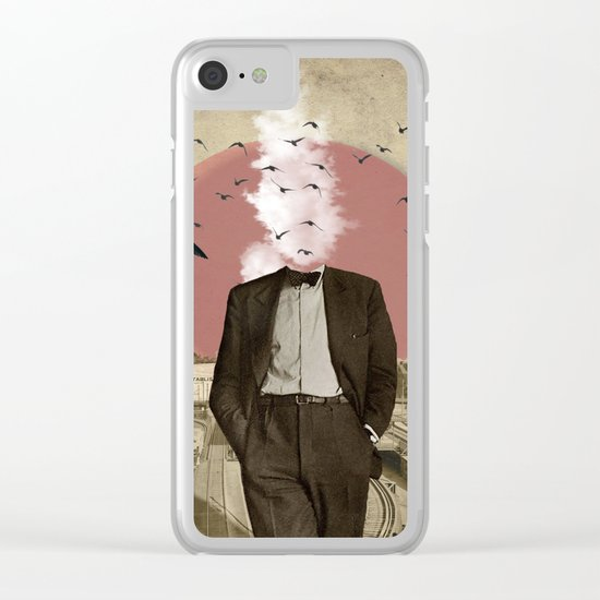 Hot Under The Collar Clear iPhone Case