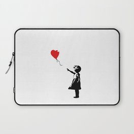Banksy Girl with Ballooon reproduction Laptop Sleeve