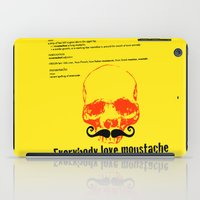 moustache iPad Cases featuring Moustache by morganPASLIER