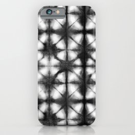 Shibori Itajime black and white iPhone Case