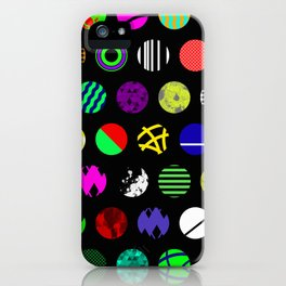 Eclectic Circles - Abstract collage of random, colourful, bold, eclectic circles iPhone Case