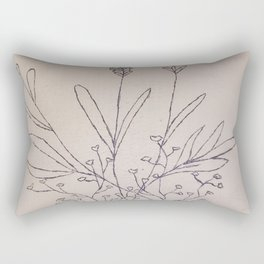 French linen Babies Breath and Lavender Rectangular Pillow