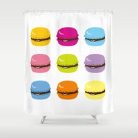 macaron Shower Curtains featuring macaron by taichi_k