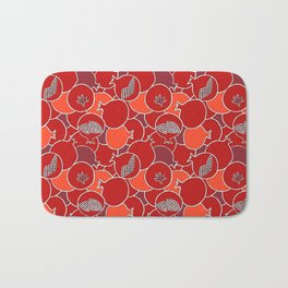 Pomegranate Harvest with Fruit and Seeds Bath Mat