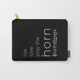 Live, love, play the horn (dark colors) Carry-All Pouch