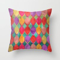poem Throw Pillows featuring Full Colour Poem by micklyn