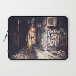 Lower East Side - Midnight Warmth on a Snowy Night Laptop Sleeve